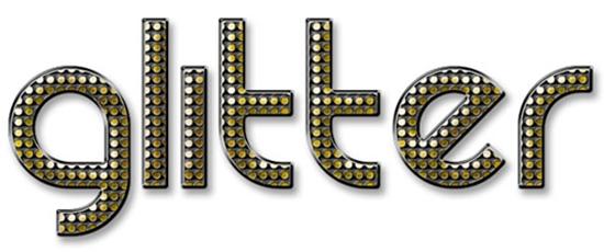 22. 1930s Glitter Text