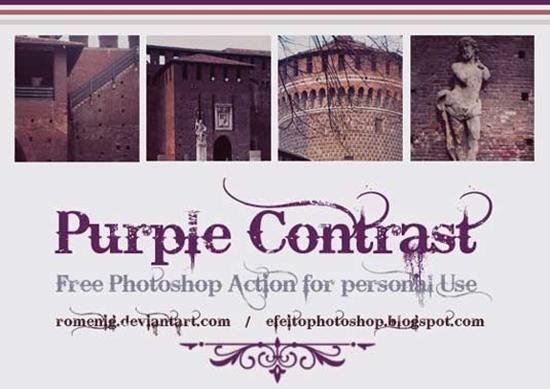 44. Purple contrast