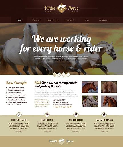 Gorgeous Horses WordPress Theme