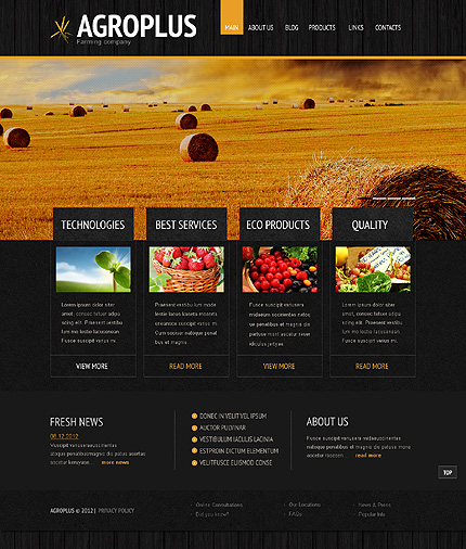 Agriculture WordPress Theme