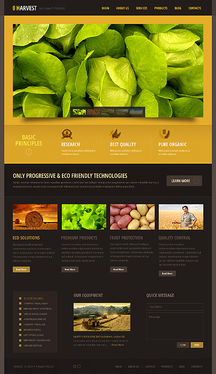 Black Orange Agriculture WordPress Theme