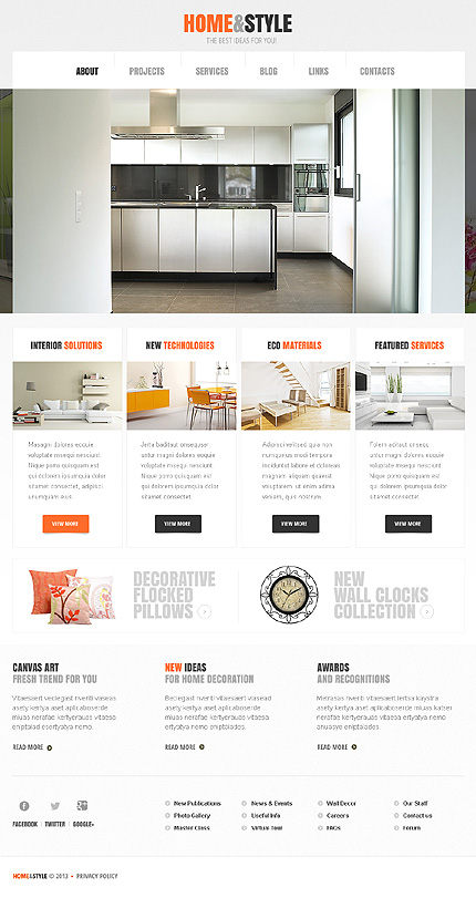 White Interior Design WordPress Theme