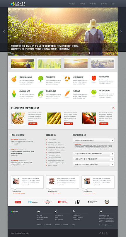 template 45717 - moher agriculture responsive wordpress theme