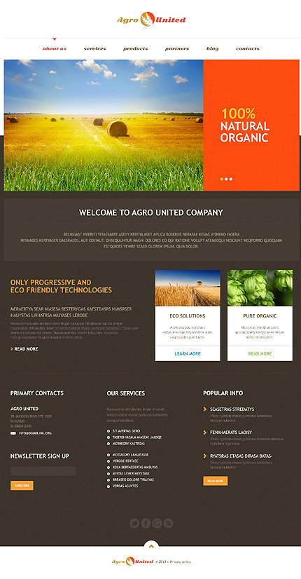 Agriculture to Impress WordPress Theme