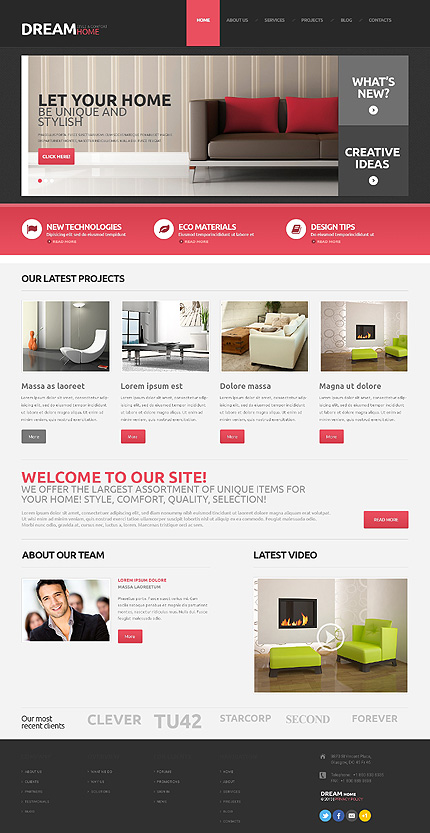 Interior Design Responsive WordPress Theme
