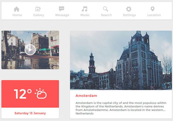 The Amsterdam User Interface