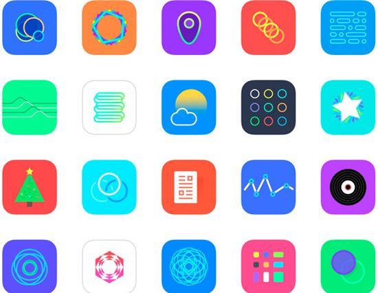 iOS 8 App Icon Set