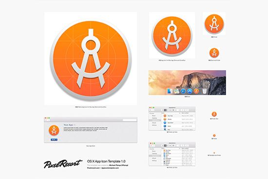 OS X App Icon Template