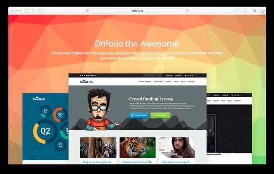 Drifolio html portfolio template
