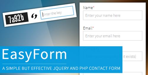jQuery and PHP powered Easy Form