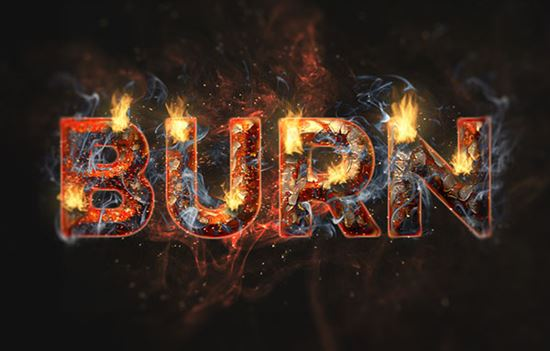 Create a Fire and Rust Text Effect in Adobe Photoshop CC