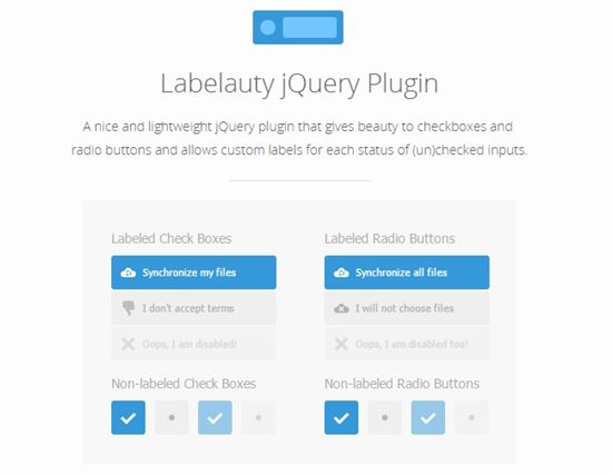 Labelauty – jQuery Plugin for Radio and Checkbox Inputs