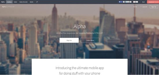 Alpha-html5-templates