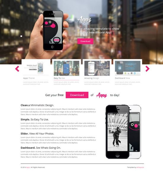 Appz Single Page Responsive Website Template