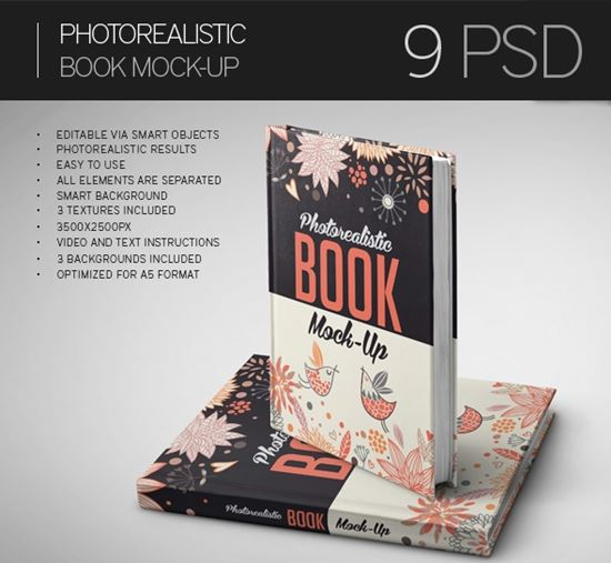Book Cover Typography Generator ~ Free psd magazine cover book brochure mockup