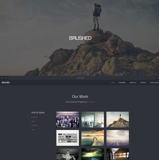 Brushed – Responsive One Page Template