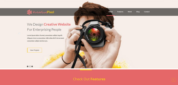 Photography Website Template. 90 absolutely free responsive html5 ...