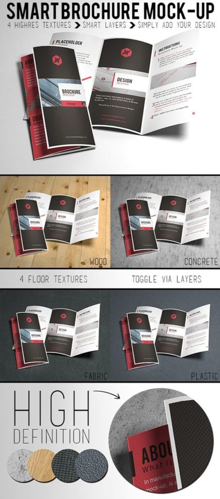 Free Tri Fold Brochure Mock-up