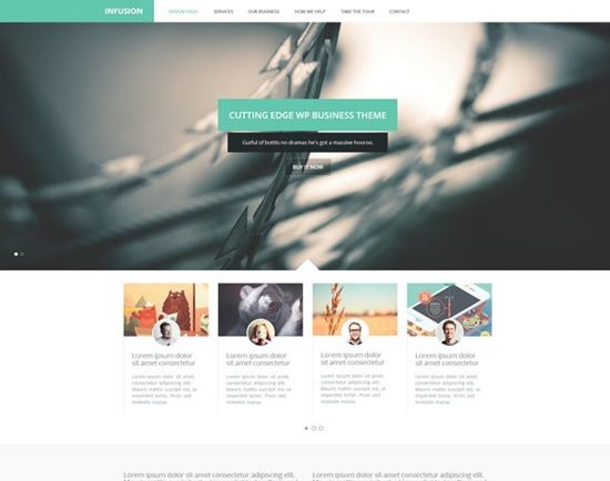 Infusion – One Page Business Portfolio Template