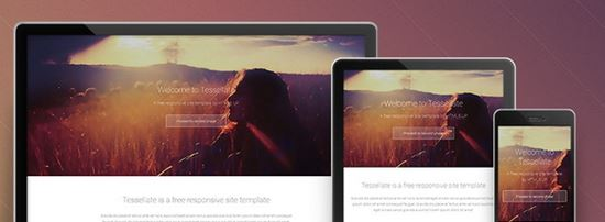 Tesselatte – A Free Responsive Site Template