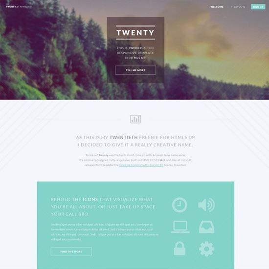 Twenty – HTML5 Parallax Template