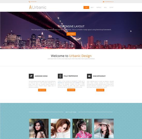 Urbanic – Bootstrap Template