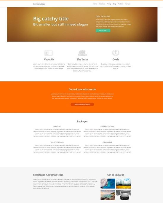 Website – HTML5, CSS3 and jQuery