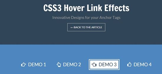 CSS3 Hover Link Effects