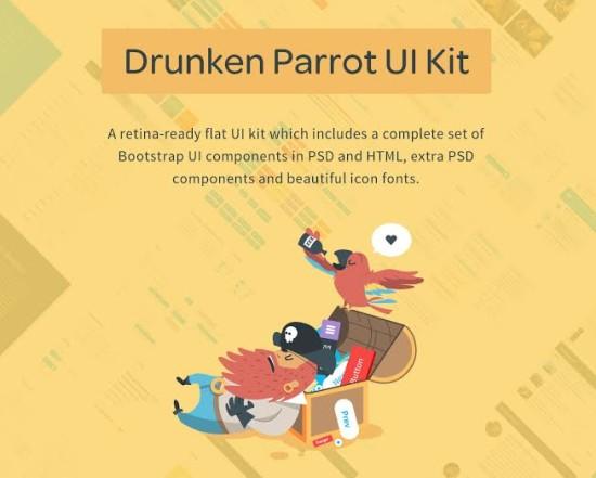 Drunken Parrot Flat UI Kit