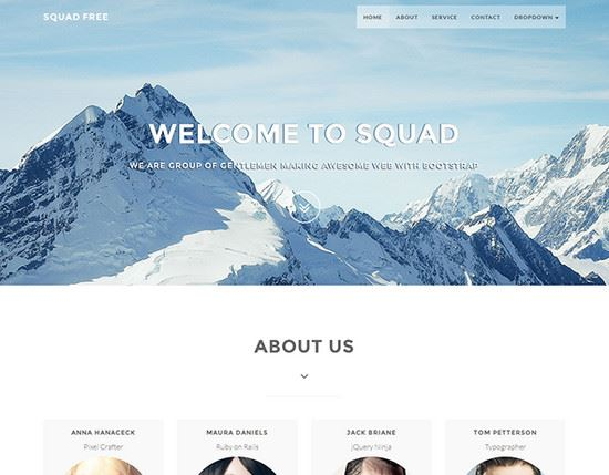 Web Pages Templates Html. 30 html5 landing page themes templates ...