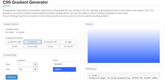 CSS portal Code generator