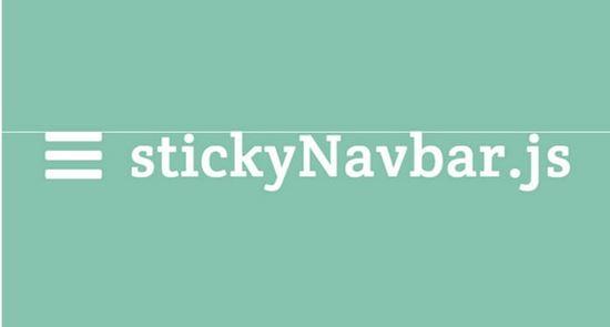 Sticky Navbar