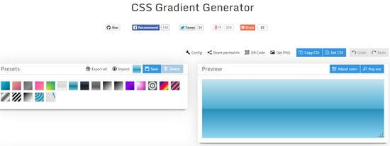 22 Useful CSS3 Gradient Generator