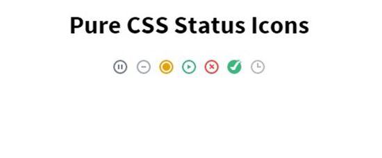 CSS Status Icons