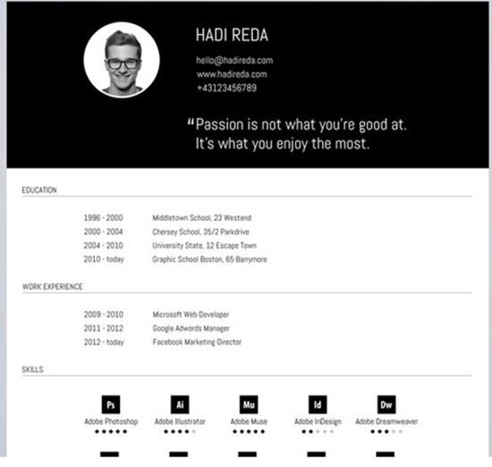 linkedin resume templates