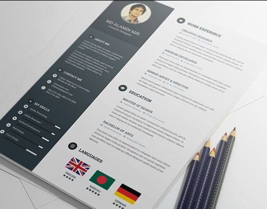 free resume template - Attractive Resume Templates Free Download