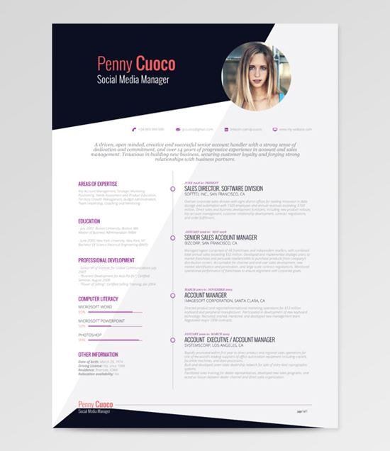 free resume templates 22 - Best Resume Templates Download Free