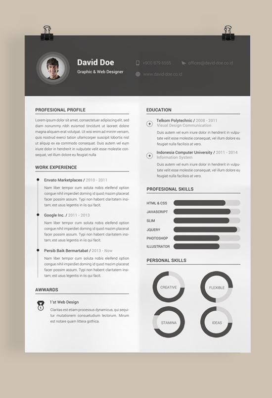 Free Resume Template  Template For Resume Free