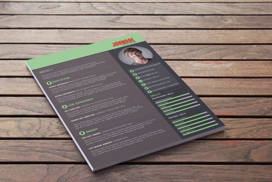 graphic design cv templates free download infographics resume template psd