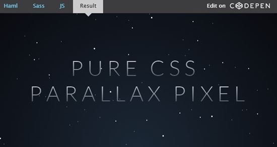 Starry Parallax Background