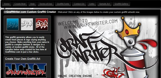 10) GraffWriter Free Graffiti Generator