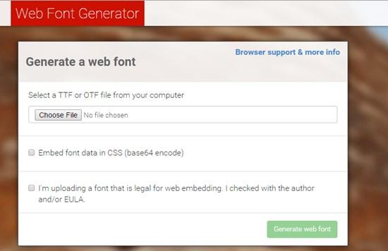 13) Web Font Generator