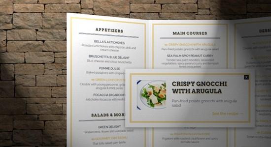 24) 3D Restaurant Menu Concept