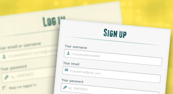30) Login and Registration Form with HTML5 and CSS3