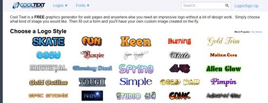 4) Cool Text Logo Generator
