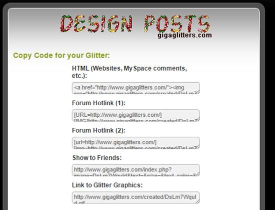 7) Free Online Glitter Text Generator