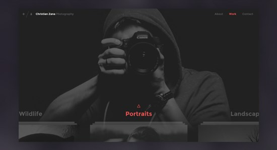 7) Photography Website Concept