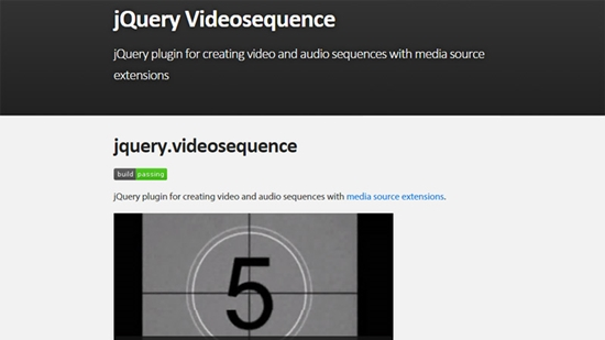 8) jQuery Videosequence