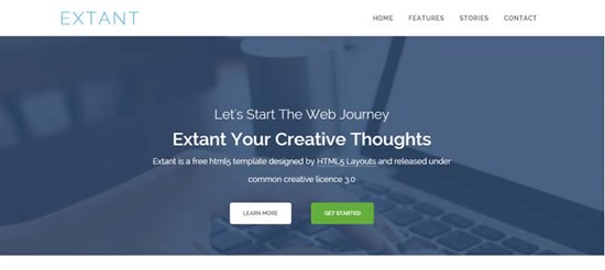 9) Extant Free Responsive HTML5 Web Templates