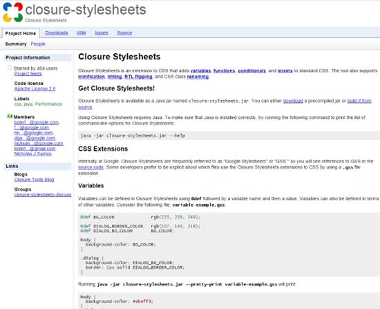 Closure Stylesheets